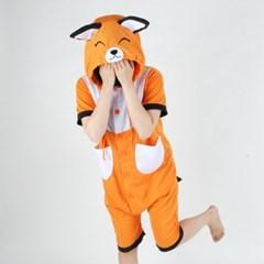 반팔 동물잠옷 여우 (오렌지)