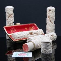 고급인조상아 입체조각도장(수공예품)