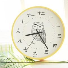 무소음행복부엉이한자벽시계250