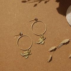 [하우즈쉬나우] Bring More Love, Cupid and Ring Earrings