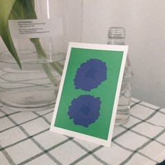 wild flower postcard _ green