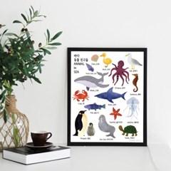 바다 동물친구들 - 학습용 방수포스터