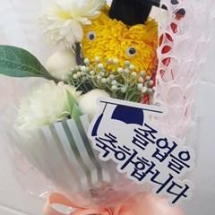 졸업식 꽃다발 학사모 퐁퐁