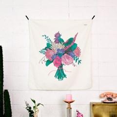 꽃다발 패브릭 포스터 / 가리개커튼