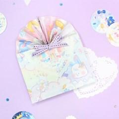 마넷 원형 라벨 - 별빛 토끼