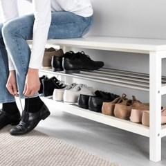 이케아 TJUSIG 벤치 겸용 신발보관대/신발장