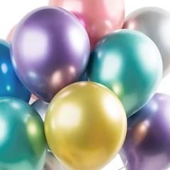 헬륨풍선효과 크롬벌룬 6색혼합 [50개묶음]_(11627082)