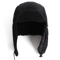 18F PLATEAU EAR FLAP CAP_BLACK