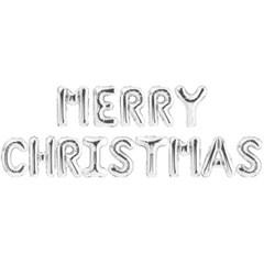 은박풍선세트 MERRY CHRISTMAS 실버_(11628935)