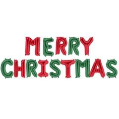 은박풍선세트 MERRY CHRISTMAS 레드앤그린_(11628934)