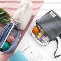 피치워싱 캔버스 수납 숄더백 + 보온보냉백 세트