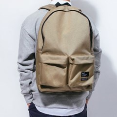 2PK NYLON BACKPACK-BEIGE
