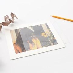 8x10 사진액자  PET 5매 - 액자유리 대용 투명 보호 필름 0.5T