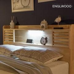 잉글랜더 New 로웰 슬라이딩 LED 원목 수납 침대(NEW E_(12050421)
