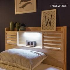 잉글랜더 New 로웰 슬라이딩 LED 원목 수납 침대(매트제_(12050403)
