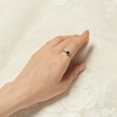 [925실버] 타이탄 큐빅 반지