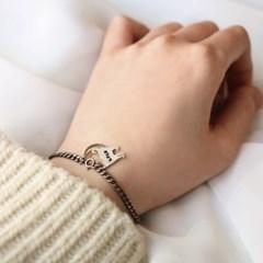 Moon silhouette bracelet
