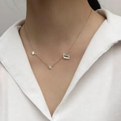 Little star silhouette necklace
