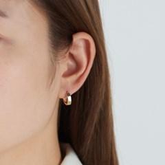 [925실버] 원터치 컷팅 링 귀걸이