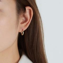 [925실버] 원터치 심플 링 귀걸이