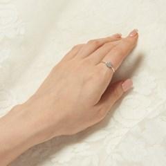 [925실버] 심플 하트 반지