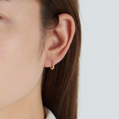 [925실버] 원터치 볼 비딩 링 귀걸이