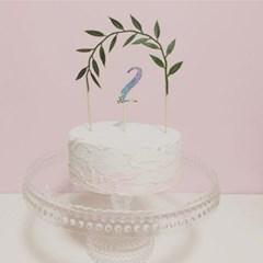 PP CAKE TOPPER - leaf
