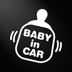 아기가 타고있어요 자동차스티커 베이비쮸쮸