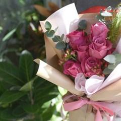 생화 올포러브장미 꽃다발(친환경보냉박스사용)