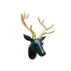 북유럽 사슴 벽장식 (블랙)