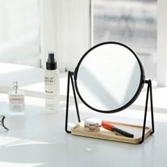 렌코수납탁상거울 원형 / 사각