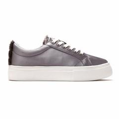 Satin sneakers (w)_Gray