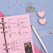[A6] 6공 다이어리 리필 속지_핑크모눈