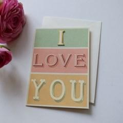 카발리니 카드-I love you typography