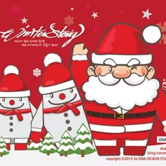 [DNA PaperToy] 산타,스노우맨 페이퍼토이/눈사람/크리스마스