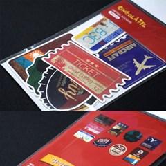링고라벨 빈티지 9종 캐리어스티커 PVC 방수 노트북 데코 스티커