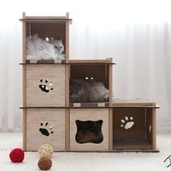 토모 고양이 스크래쳐 캣타워(4단)