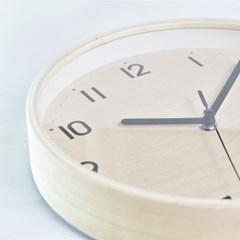 심플우드벽시계 (내추럴)
