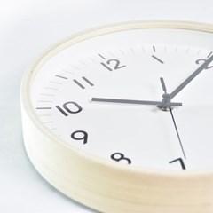 심플우드벽시계 (화이트)