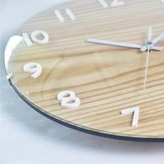 네오 폰트 우드벽시계