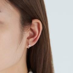 진주 포인트 이어커프 귀걸이