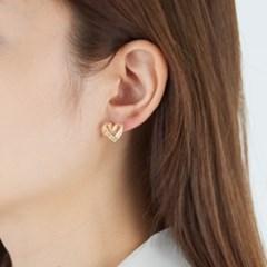 하트 레이스 귀걸이