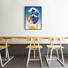 유니크 인테리어 디자인 포스터 M 생맥주8 호랑이맥주
