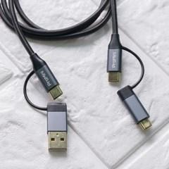 프로미니 4in1 C to C타입 올인원 고속충전케이블 1m
