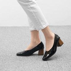 kami et muse 6cm wood heel leather pumps _KM18w345