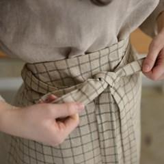 [Fabric] 빈티지 그리드 워싱 린넨 Vintage Grid Washing Linen