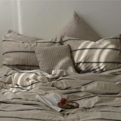 [Fabric] 빈티지 스트라이프 워싱 린넨 Vintage Stripe Linen