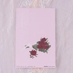 감성 장미 일러스트 엽서