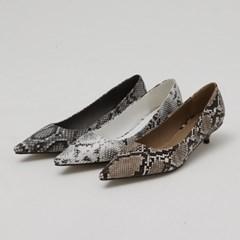 [모어글렌]python feminine shoes (3colors)