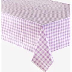 비닐 테이블보 [체크 라벤더]_(11630024)